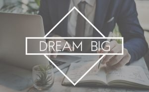 61393415 - dream big aspirations goal target motavation concept