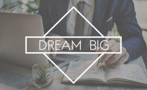 61393415 - dream big aspirations goal target motavation concept